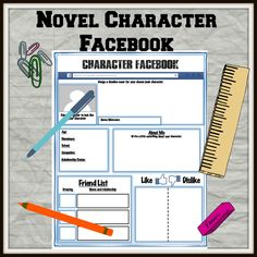 Novel character Facebook Activity. Who would they have on their friend list? What would they put for a TBH? What are their interests?