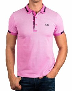 Polos Hugo Boss ® Hombre Rosa - Paule | ENVIO GRATIS Polo Shirt Style, Mens Polo T Shirts, Boys T Shirts, White Trainers Men, Hugo Boss, Ralph Lauren, Designer Clothes For Men, Apparel Design, Men Looks