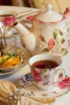 Floral cup of tea