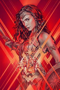 Wonder Woman Timed Edition by Martin Ansin - Visit to grab an amazing super hero shirt now on sale!