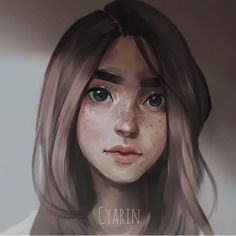 """Small Portrait By @cyarine _ #arts_help"""