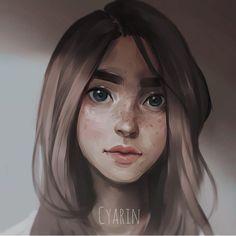 """Small Portrait By @cyarine  _ #arts_help"""