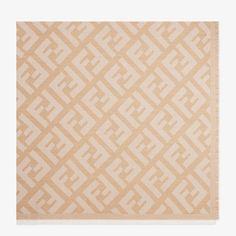 Beige wool and cashmere shawl - FF SHAWL | Fendi