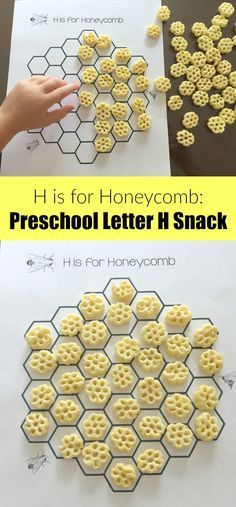Honeycomb letter H preschool snack or for Bee theme
