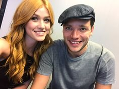 Katherine McNamara and Dominic Sherwood Shadowhunters Tv Series, Shadowhunters The Mortal Instruments, Blusas Best Friends, Clary Et Jace, Gallagher Girls, Dominic Sherwood, Sparkling Eyes, Jace Wayland, Clace