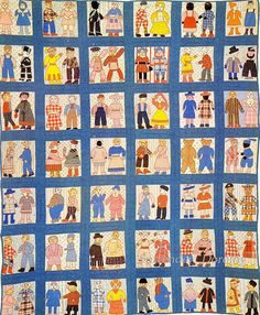 Pieced & Applique Quilt Townsfolk 1916 Massachusetts by SurrendrDorothy, via Flickr