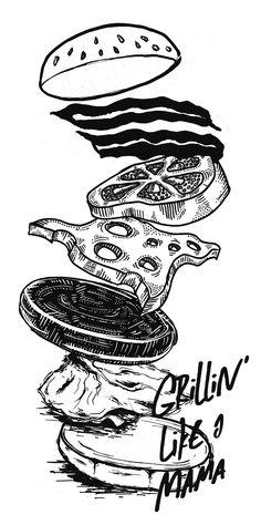 Grillin' like a mama by MAMA Silkscreen, via Behance