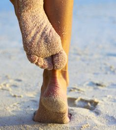 Beach time and sandy toes