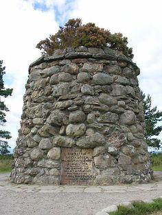 Memorial at the Culloden Battlefield near Inverness, Scotland: