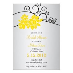 Joyous Blooms - Floral Bridal shower customized Personalized Invites