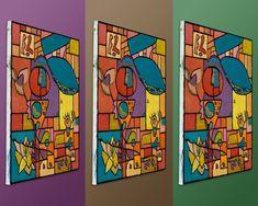 Vibrant Urban Tribal Abstract (Painting No.
