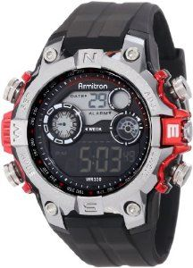 Armitron Men's 40/8251RED Black Digital Sport with Red Metalized Accents Watch: Watches: Amazon.com