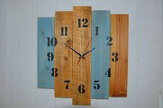 PalletWood / Drevené hodiny Clock, Wall, Home Decor, Watch, Homemade Home Decor, Clocks, Decoration Home, The Hours, Interior Decorating