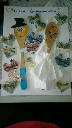 Money Gift Wedding Crafts Simply Lovely Idea For A Money Gift For Wedding … - Birthday Presents Wedding Crafts, Diy Wedding, Origami Wedding, Happy Birthday In Heaven, Gift Wraping, Money Origami, Diy Presents, Inspirational Gifts, Creative Gifts
