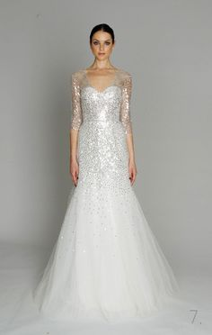 monique lhuillier beautiful wedding dress
