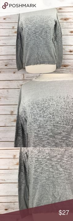 """Lou & Grey Light Grey Ombré Crewneck Sweater Super cute and casual grey ombré crewneck sweater by Lou & Grey. 22"""" long in front. 25"""" long in back. 20"""" pit to pit. Some very light pilling, overall in great condition.  🚭 Smoke-free home 📬 Ships by next day 💲 Price negotiable 🔁 Open to trades Lou & Grey Sweaters Crew & Scoop Necks"""