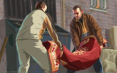 Kunstwerk GTA 4 - Niko + Roman - Artists that inspire - Cars Grand Theft Auto 4, Grand Theft Auto Series, Best Wallpaper Sites, Hd Wallpaper, Youtube Design, Gta Online, Rockstar Games, San Andreas, Video Game Art