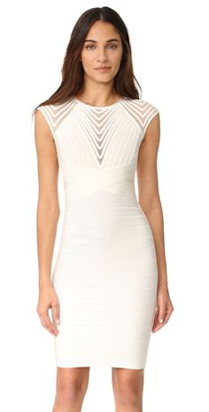 9734a2ccfcb Herve Leger Deanna Cap Sleeve Dress