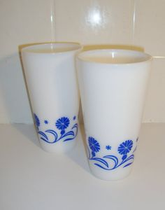 Vintage Hazel Atlas Milk Glass Tumblers Set