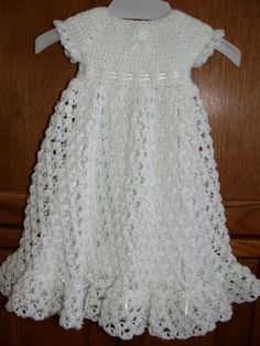 Free Crochet Christening Gown   ... crocheted baby blessing christening dress by babysewsoft on etsy: []