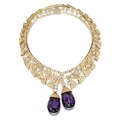18 karat gold, diamond and amethyst 'Botticelli' necklace, Van Cleef & Arpels | Lot | Sotheby's