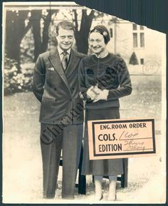 CT PHOTO amb-227 Duke & Duchess of Windsor 1937