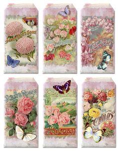 Vintage Floral Tags