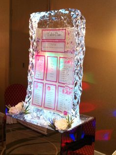 If pink is your colour, our hot pink ice table seating plan is the one for you. www.icestyling.co.uk