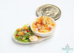 1:12 Chicken Noodle Soup and Salad by Bon-AppetEats.deviantart.com on @deviantART