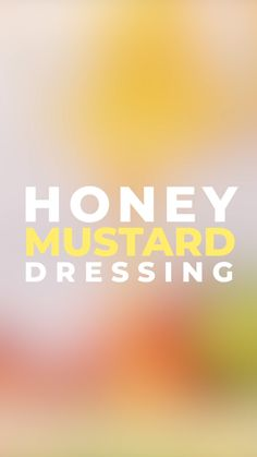 Aug 2019 - Homemade Honey Mustard Dressing is so MUCH better than bottled versions. This fast, easy recipe Dijon mustard, honey, apple cider vinegar, and olive oil! Honey Mustard Salad Dressing, Honey Mustard Vinaigrette, Honey Mustard Sauce, Honey Mustard Chicken, Honey Mustard Recipes, Homemade Honey Mustard, Best Dressing Recipe, Salad Dressing Recipes, Sauce Recipes