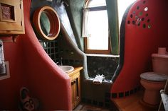 Wide Hut Bathroom by Earthship Kirsten, via Flickr