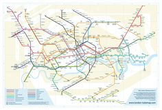 London Tube, geographically more accurate