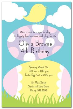 #1 contender for Payton's Easter birthday party.