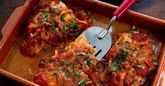 Рыба в томатном соусе по-гречески