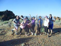 Hiking group in Utah, USA
