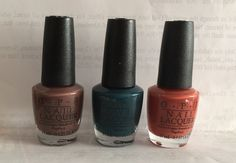 3 of Opi new Washington DC collection. From L to R: Squeaker of the House, CIA = Color Is Awesome, & Yank My Doodle
