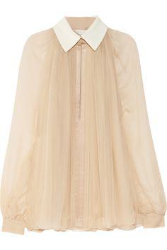 Chloé|Silk-chiffon blouse