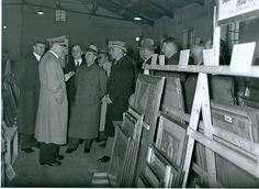 Artworks that were confiscated and collected for Adolf Hitler, seen here examining art in a storage facility, were designated for a proposed Führermuseum in Linz, Austria. Monument Men, Storage Facility, National Archives, Soviet Union, World War Ii, Wwii, History Pics, Camps, Monuments