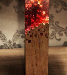 Wood and Acrylic glass lamp