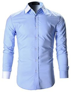 FLATSEVEN Mens Designer Slim Fit Color Block Dress Shirts...