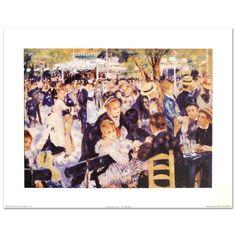 """BAL Du Moulin de La Galette"" Print by Renoir with Encreluxe Printing Process   eBay"