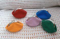 monederos vintage lisos a crochet