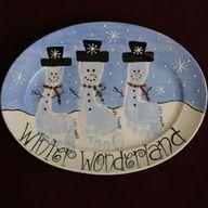 Super cute footprint Snowmen!