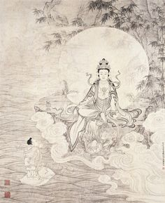 Guanyin, the Bodhisattva of Compassion or Goddess of Mercy