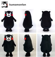 2 turnarounds of modern day kumamon. the top was taken 2014-2015, while the bottom was taken 2011-2012. kigurumi.biz is very consistent with how they craft kumamon's suits, however, a trained eye (someone who stares at kumamon for hours) can point out subtle differences in the shapes of mouths. in the newer set, the mouth's top curve begins sloping down off-center, while the older set has a more open bottom. other differences i've seen include a wide but narrow mouth, the two above, and a…
