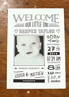 Stationery Show Part 3 Hand lettered birth announcement - National Stationery Show 2014 Minted lettered birth announcement - National Stationery Show 2014 Minted 3 Baby Pictures, Baby Photos, Birth Announcement Girl, Birth Announcements, Baby Frame, Baby Birth, Baby Design, Baby Cards, Newborn Photos