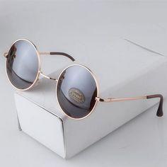Newest Female Male Round Black Retro Sunglasses Beauty Vintage Original Brand Circle Women Men Sun Glasses
