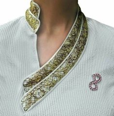 PORSCIA® YEGANEH® Trademark design collar- inspired by the architectural broke. - PORSCIA® YEGANEH® Trademark design collar- inspired by the architectural broken walls of the Roman colosseum – Made in Italy. — Source by glnaydn - Churidar Neck Designs, Salwar Designs, Kurta Designs Women, Kurti Designs Party Wear, Neck Designs For Suits, Sleeves Designs For Dresses, Neckline Designs, Blouse Neck Designs, Kurti Sleeves Design