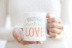 Dream Big mug // Vintage Love Inspirational Mug // Boss Lady Coffee Cup // Please Go Away I'm Introverting // Blogs And Coffee Heart Mug // 90 Percent Cream 10 Percent Coffee
