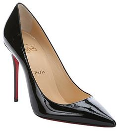 Christian Louboutin black patent leather 'Decollete 554 100' pumps // As seen on Katherine McNamara at the InStyle & Warner Bros. Golden Globes after party on January 10, 2016